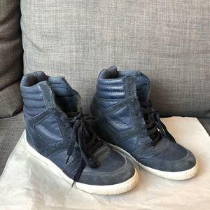 River Island blue high top sneakers